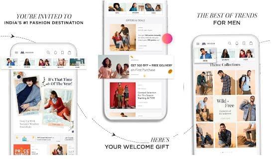 Myntra online shopping app - technewztop.com