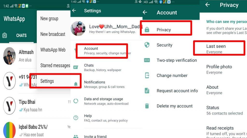 WhatsApp Last seen - technewztop.com