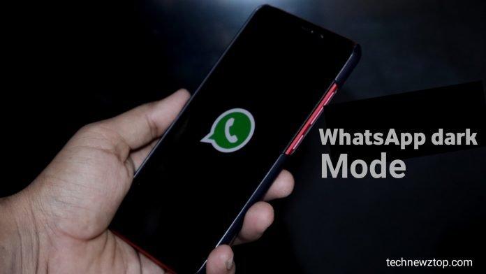 WhatsApp's dark mode has Launched.