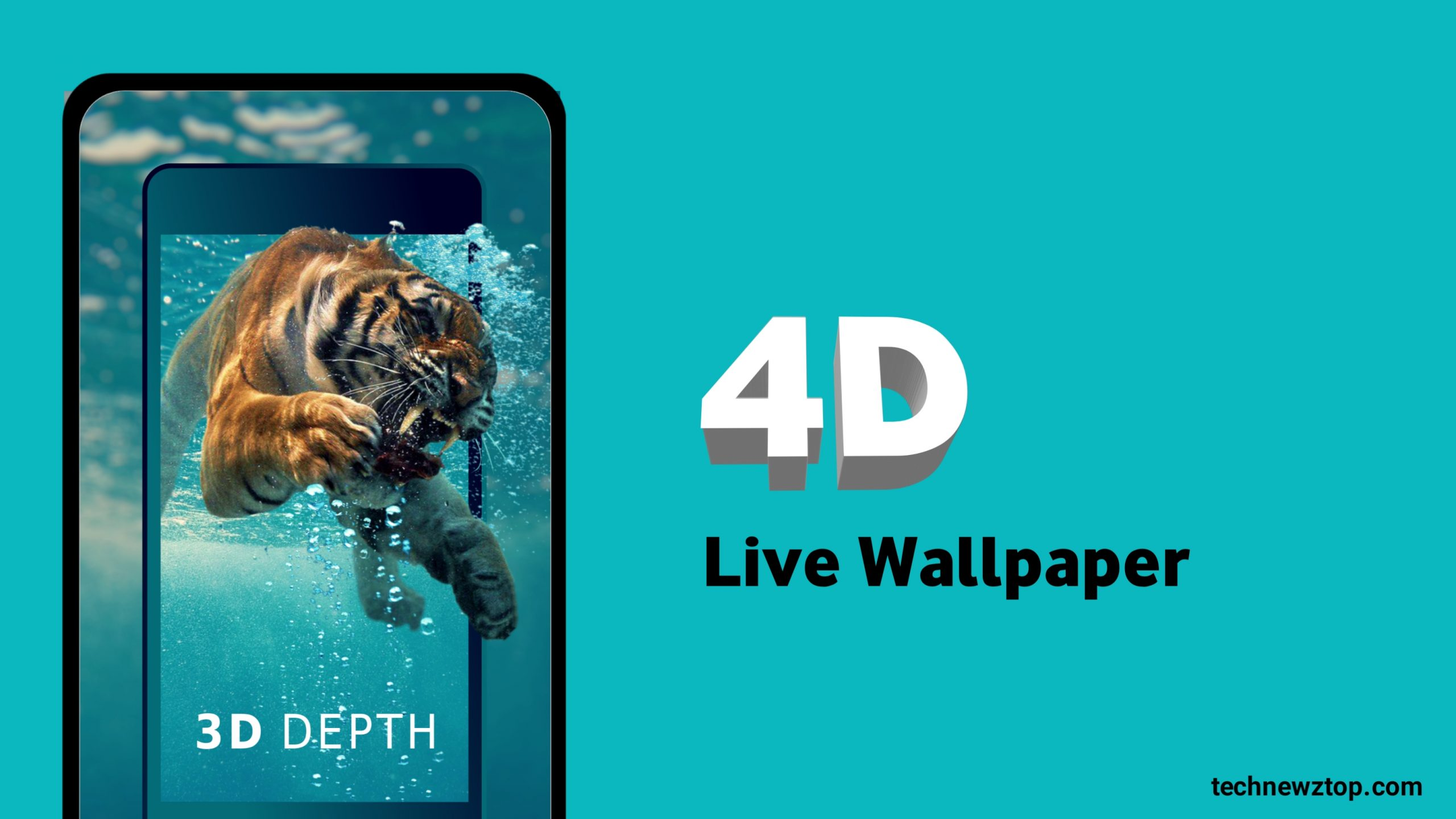 4D Live Wallpaper For Android App technewztop.com