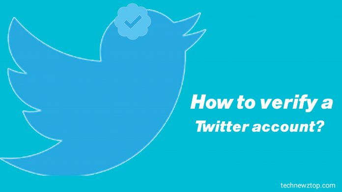 How to verify a Twitter account