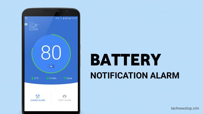 Full Battery Notifies Alarm