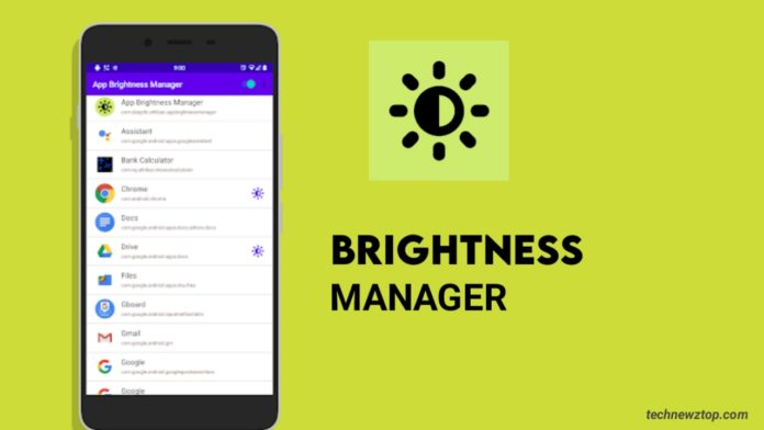 App Brightness Manager
