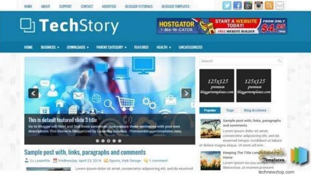 TechStory Blogger Template.
