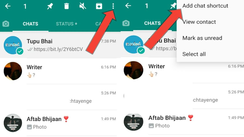 Add chat shortcut