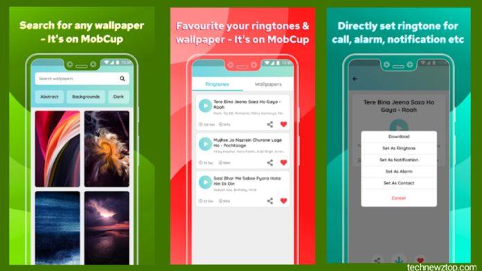 MobCup Ringtone Wallpaper App