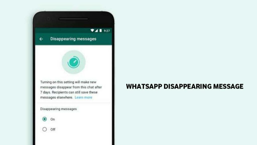 Disappearing Messages