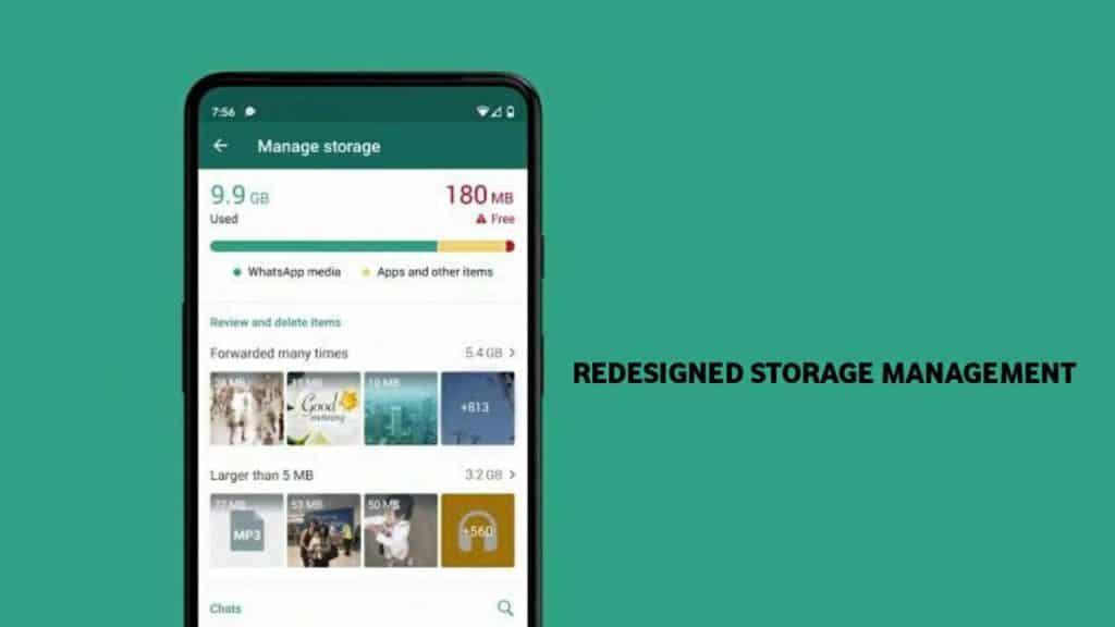 Redesigned Storage Management