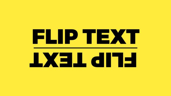 How to use Flip text