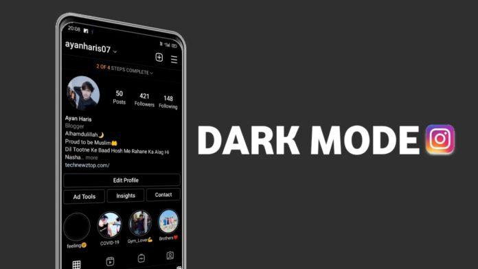 dark mode on Instagram